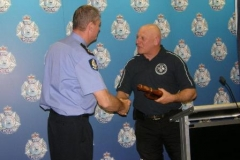 Presentation of Baton to Commissioner O'Callaghan